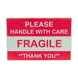 """4"""" x 6"""" Fragile Shipping Labels- 500 per Roll"""