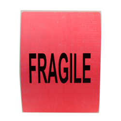 """6"""" x 4"""" Fragile Shipping Labels- 500 per Roll"""