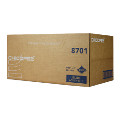 """17.5"""" x 17"""" Blue Smooth Wipers - 400 Wipes/1/4 Fold Bulk Pack"""