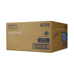"""12"""" x 12"""" Blue Creped Wipers - 400 Wipes/Flat Pack"""