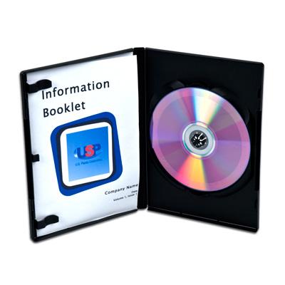 Black Single DVD Case with Full Sleeve