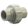 """1/2"""" PP-Pure® Pigmented Polypropylene Union with FKM Seals"""
