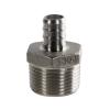 "1/2"" PEX x 1/2"" MNPT Stainless Steel Male Adapter"