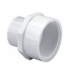 """1/2"""" Socket x 3/4"""" FNPT Schedule 40 White PVC Reducing Female Adapter"""