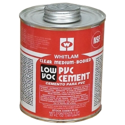Whitlam PVC Clear Low VOC Medium Bodied Cement