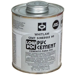 Whitlam PVC Gray Schedule 80 Low VOC Heavy-Bodied Cement