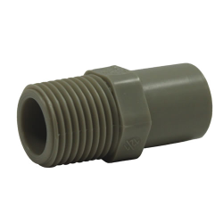 PP-Pure® Pigmented Polypropylene Male Adapters