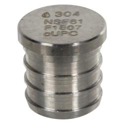 """3/4"""" Stainless Steel PEX Plug"""