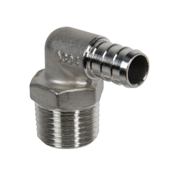 Stainless Steel PEX Male 90° Elbows