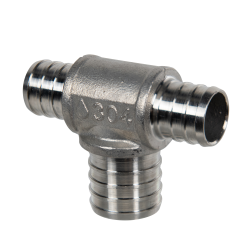 "3/4"" x 3/4"" x 1"" PEX Stainless Steel Reducer Tee"
