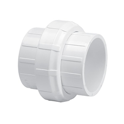 "3/4"" Schedule 40 White PVC Socket Union"