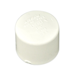 White PVC Socket Caps