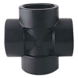 "3/4"" Black Polypropylene Cross"
