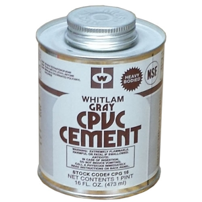 Whitlam CPVC Gray Heavy-Bodied Cement