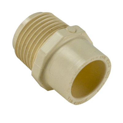 Cts cpvc male adapter u s plastic corp for Cpvc hot water