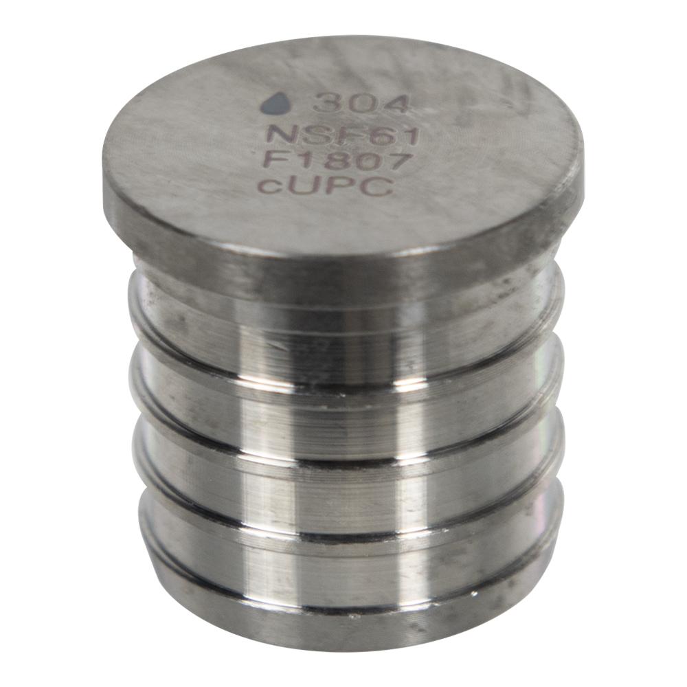 """1"""" Stainless Steel PEX Plug"""