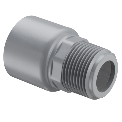 "1/2"" MNPT CPVC SCH80 SR Male Adapter with Internal SS"