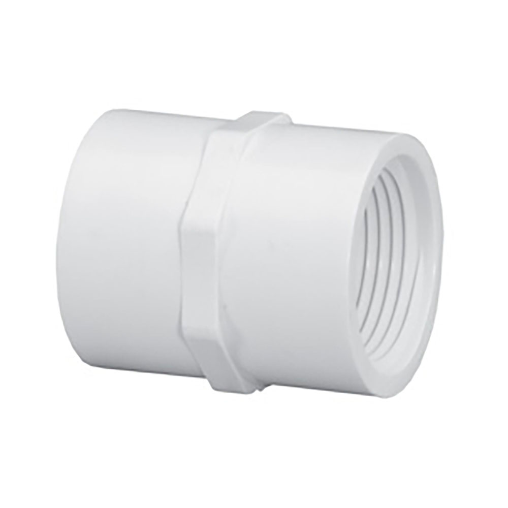 "1-1/2"" PVC Schedule 40 Threaded Female Coupling"