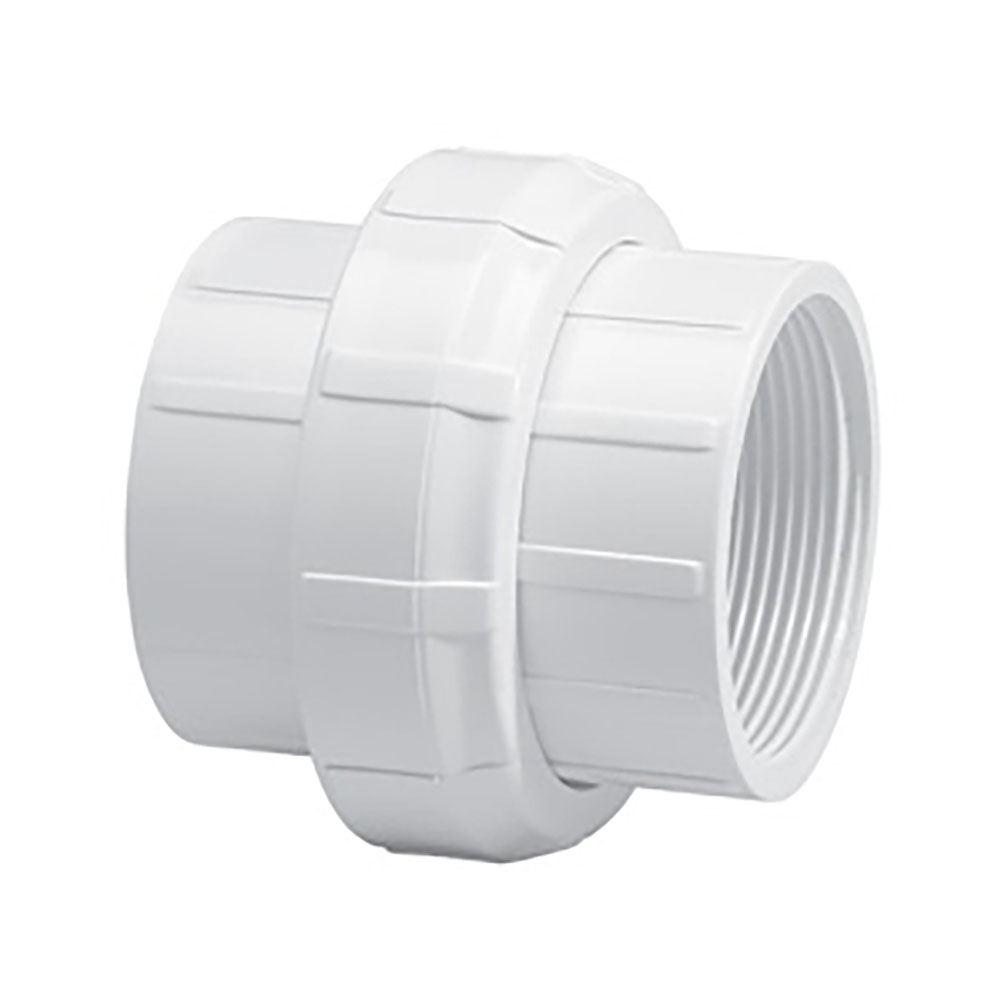 "3"" Schedule 40 White PVC Threaded Union"