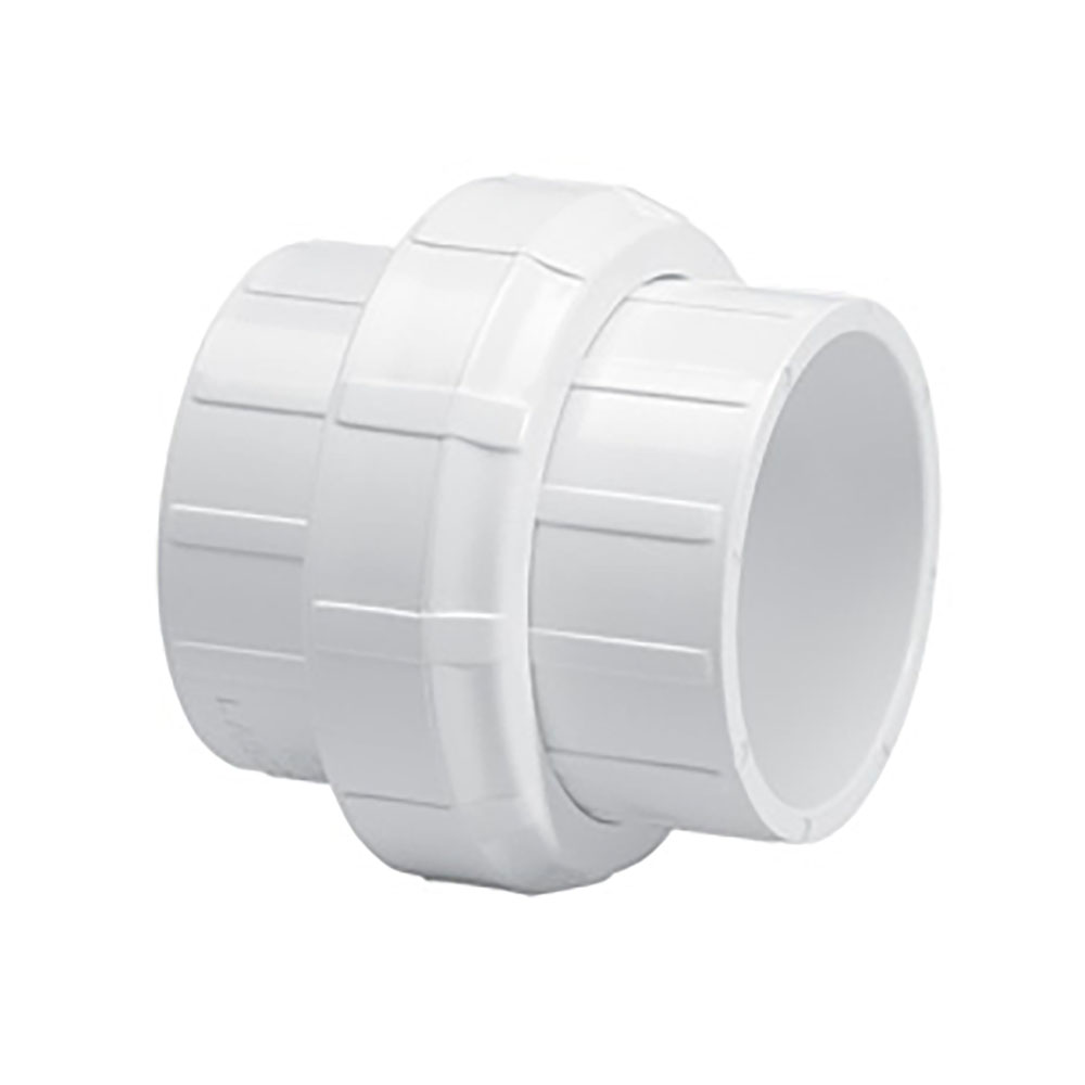 "1-1/2"" Schedule 40 White PVC Socket Union"