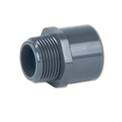 Schedule 40 & 80 PVC Thread x Socket Male Adapters