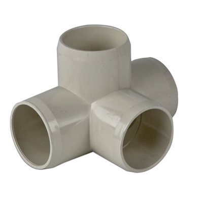 Putty 4 - Way Tee External Pipe Fitting