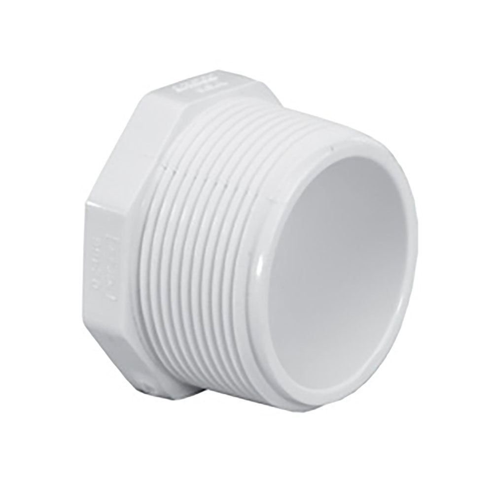 "3/4"" Schedule 40 White PVC Threaded Plug"