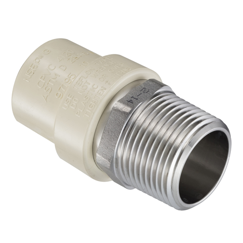 "1-1/4"" CTS x SS MIPT CTS CPVC Male Adpater"