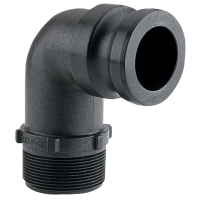 Cam Lever 90° Male Threaded Adapter