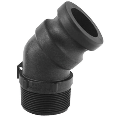 Cam Lever 45° Male Threaded Adapter