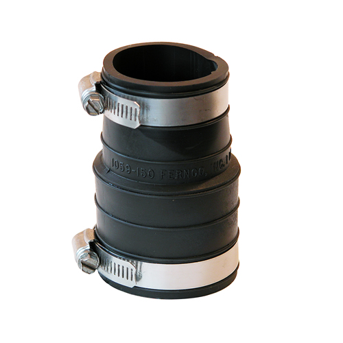 "1-1/2"" Plastic Socket x 1-1/2"" Plastic Pipe Coupling"