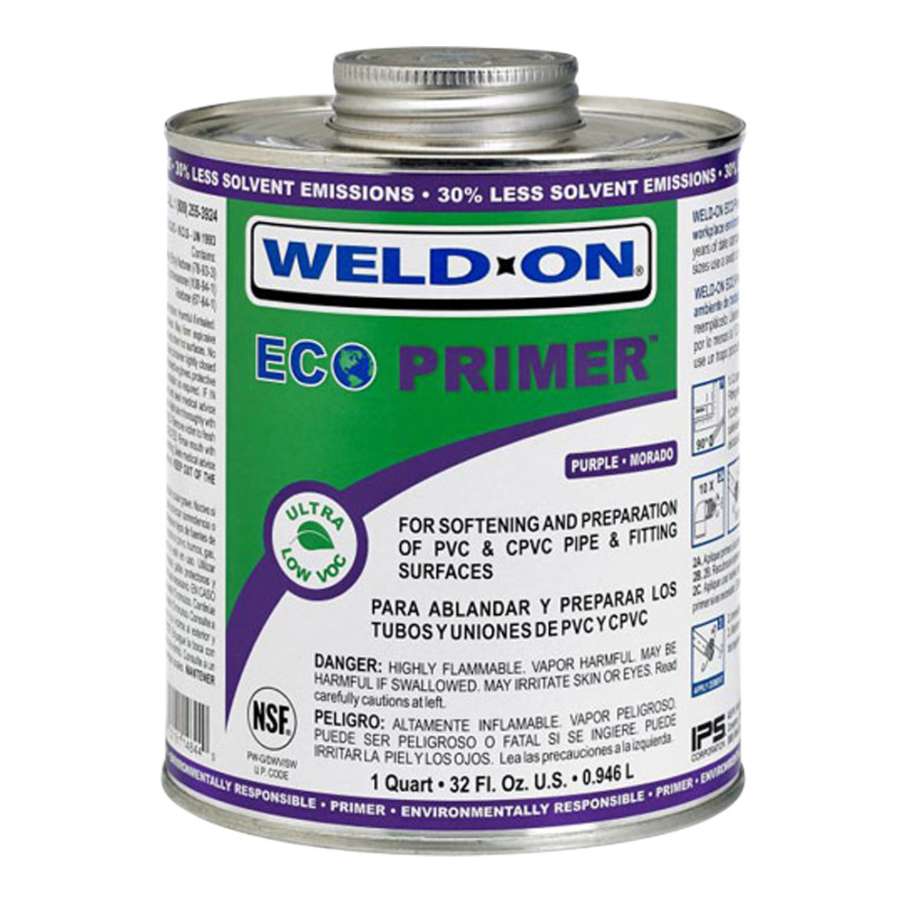 Quart Clear IPS® Weld On®  ECO™ Primer Ultra Low VOC