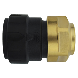 John Guest® ProLock™ Black UV CTS Polysulphone x NPS Brass Female Connector