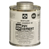 Pint PVC Gray Schedule 80 Low VOC Heavy Bodied Cement