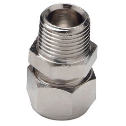 "1/2"" D1 x 1/2"" MNPT Duratec® Nickel Plated Brass Adapter"