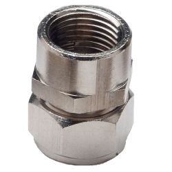 "1/2"" D1 x 1/2"" FNPT Duratec® Nickel Plated Brass Adapter"