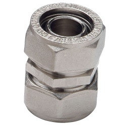 "1/2"" D1 Duratec® Nickel Plated Brass Coupling"