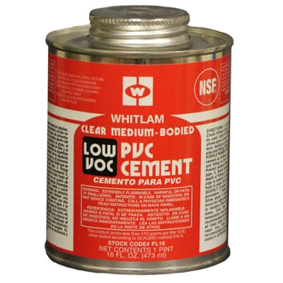 Pint Whitlam PVC Clear Low VOC Medium Bodied Cement