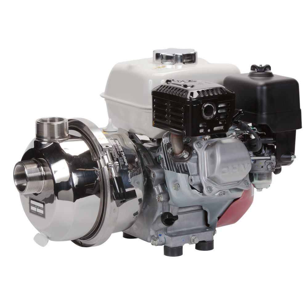 160cc Potable Water Pump Coupled to Honda GX160 Gas Engine