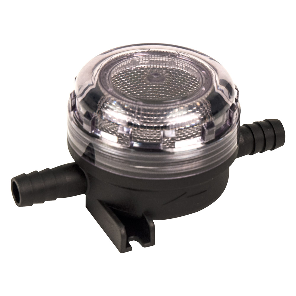 "1/2"" ID Hose Pump Inlet Strainer with 20 mesh (Course) SS Filter Screen"