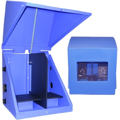 """3 Pump Spill Containment Shelf Enclosure with Divider - 35""""L x 23""""W x 28""""H"""