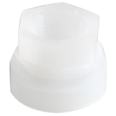 "Plastic Spout with Metal Ring Adapter for Rieke Sr. Pail Covers (1-1/4"" Dia Pumps)"