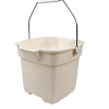 "Roughneck® 12 Quart Bisque Bucket - 12.5"" L x 11.5"" W x 10"" H"
