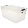 "95 Quart Clear Clever Store Basic Box with Blue Latches - 29"" L x 18"" W x 13.3"" H"