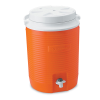 "Rubbermaid® 2 Gallon Orange Victory™ Jug - 9.7"" L x 9.5"" W x 13.2"" H"