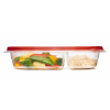 "Rubbermaid® TakeAlongs® 3.7 Cup Divided Rectangle Containers -  9.72"" L x 6.644"" W x 2"" H"