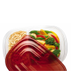 """Rubbermaid® TakeAlongs® 3.7 Cup Divided Rectangle Containers -  9.72"""" L x 6.644"""" W x 2"""" H"""