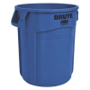 "10 Gallon Blue Rubbermaid® Brute® - 15.63"" Dia. x 17.13"" H"