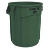 "10 Gallon Dark Green Rubbermaid® Brute® - 15.63"" Dia. x 17.13"" H"