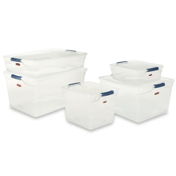 Rubbermaid® Clear Clever Store Basic Boxes